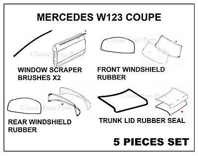 Mercedes Corner Glass Seal Right Window New OEM W123 Coupe