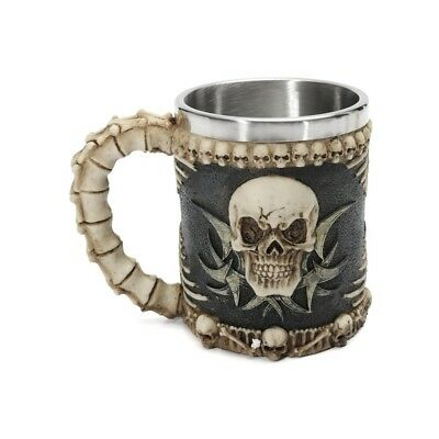 Honana Skull And Bones Fiendish 3D Tankard Mug Drinking Cup Coffee Beer Pirate G