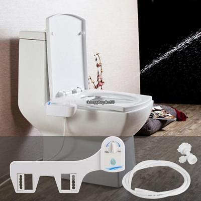 Nozzle Hot/Cold Water Spray Non-Electric Bidet Toilet Seat Attachment Adjustable