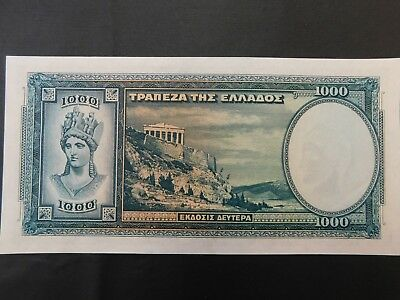 Banknote 1939 1000 Greek Drachma in excellent condition