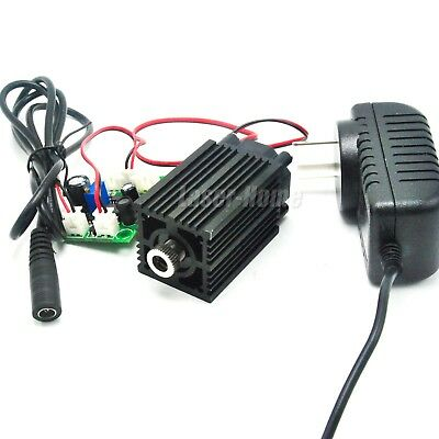 980nm 50mW Infrared IR Focusable Dot Laser Diode Module Driver TTL w/12V Adapter