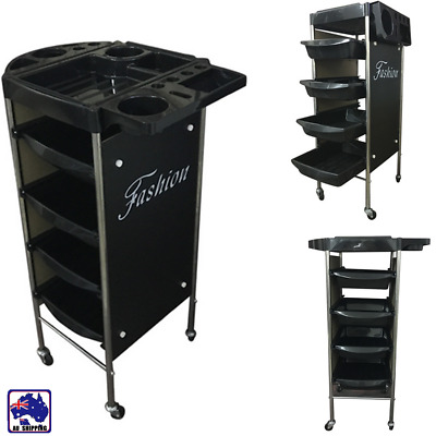 4 Tier Trolley Hair Salon Drawer Wheel Beauty Spa Hairdresser Coloring HCO000741