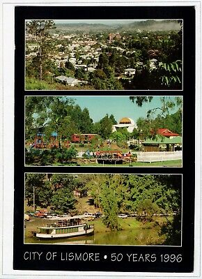 D9859cgt Australia NSW 50 years City of Lismore Multiview postcard