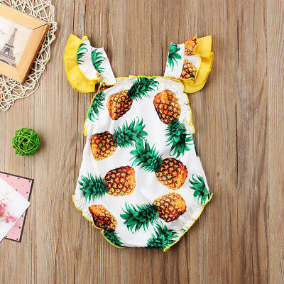 Summer Toddler Kids Baby Girls Pineapple Swimwear Swimming Bathing Swimsuit New