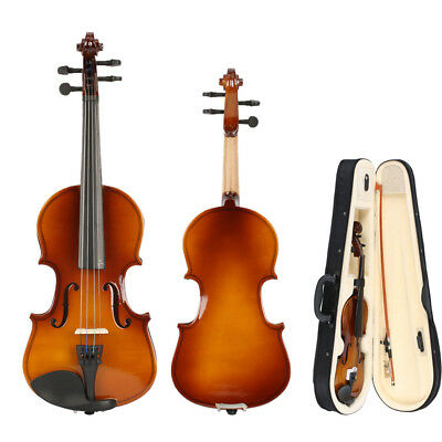 New Perfect Natural Acoustic Violin/Fiddle 1/4 Size with Case & Bow & Rosin