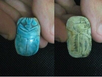 ANCIENT EGYPTIAN ANTIQUE SCARAB Stone (1500-1410 BC)