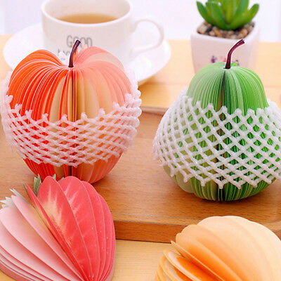 3D Fruit Apple Shaped Memo Note Pad Writing Stationary Post Party Gift