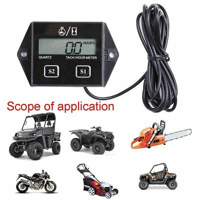 Digital Tach Hour Meter Tachometer Gauge Fr Dirt bike ATV UTV Gas Engines U1