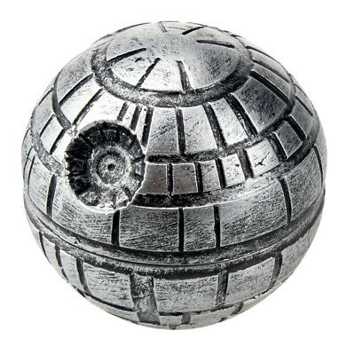 52mm 3-Layers Death Star Ball Zinc Alloy Grinder Weeds Spices Tea Crusher w/ Box
