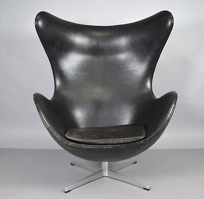 Arne Jacobsen Egg Chair Für Fritz Hansen In Leder 1966