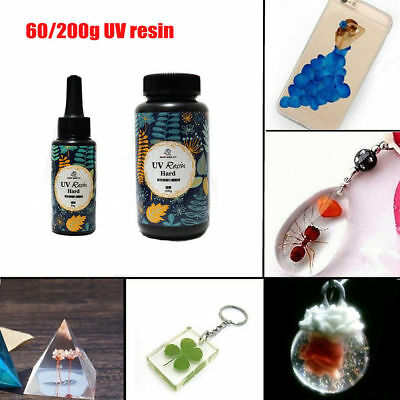 60/200g DIY UV Ultraviolet Resin Curing Solar Cure Sunlight Activated Hard KP
