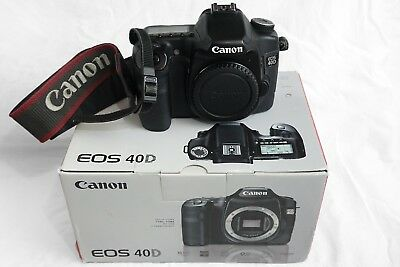 CANON EOS 40D DSLR Camera, Battery, Charger, in Original Box + 2GB Memory  Card