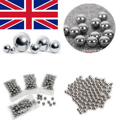 100pcs Non-corrosive Toy Bicycle DIY 304 Stainless Steel Ball Bearings 1-6mm UK