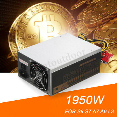 US 1950W Miner Mining Dedicated Power Supply For Antminer Bitcoin S9/S7/A7/A6 L3