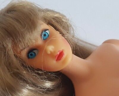Vintage Mattel Barbie Auburn Hair Blue Eyes Marked Barbie and Midge