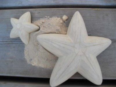 East of India Small Wooden Starfish Home Decorations - Nautical Beach Inspired