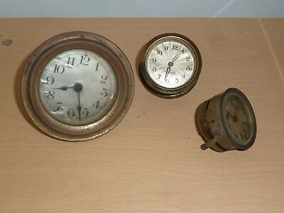 Three small 1930's clock movements for spares
