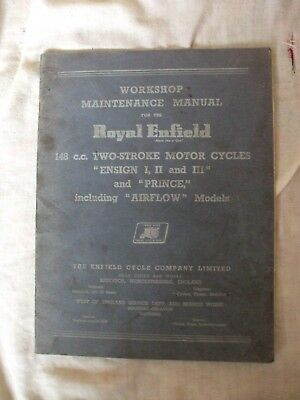 Royal Enfield 148cc Two Stroke Motorcycles Workshop Manual