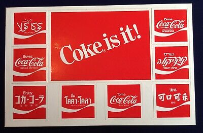 The Real Thing Around the World Coca-Cola 1990 Commemorative Countries Stickers
