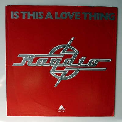 """JOB LOT - RAYDIO - 3 (THREE) x 7"""" VINYL SINGLES inc TWO PLACES AT THE SAME TIME"""