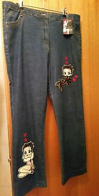 Betty Boop stretch jeans size 18 new with tags RRP $79.95 from Resist clothing