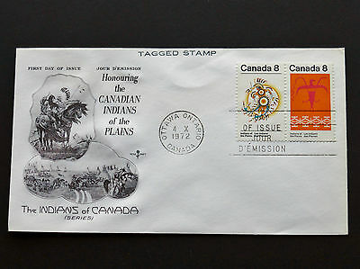CANADA - FDC #565b TAGGED - PLAINS INDIANS 1972 - ROSE CRAFT