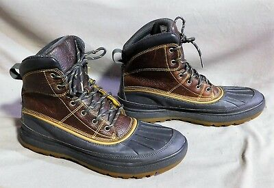huge selection of 3a15d b2ed6 MENS NIKE WOODSIDE ll ACG BROWN LEATHER 525393 ALL TERRAIN HIKING BOOTS 10