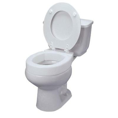 NEW - Flip-Up Toilet Riser - Hinged Toilet Seat Lift Riser, Easy to Install
