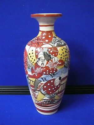Late Meji EarlyTaishō Period Hand Painted Urn Shaped Japanese Vase - 247 mm