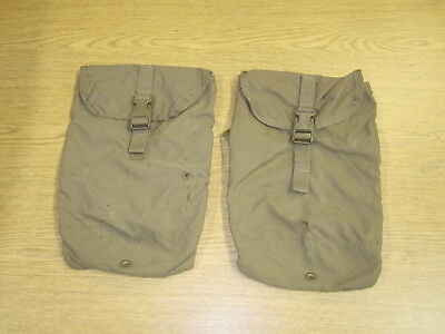 2 x Used/Damaged DRMO Eagle Industries USMC FILBE Hydration Pouch, coyote brown