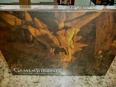 Game Of Thrones Balerion The Black Dread 1000 Piece Premium Jigsaw Puzzle New!