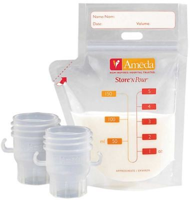 Ameda STORE & POUR FREEZER BAGS X20 Baby Breast Feeding Milk Storage  BN