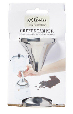 Kitchen Craft Solid Polished Stainless Steel Double Ended Ground Coffee Tamper