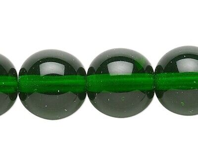 """16/"""" Strand Emerald Green AB Czech Pressed Glass Twisted Rondelle Beads *"""