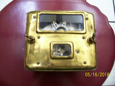Vintage Brass Cover 1909 GENERAL ELECTRIC (THOMSON) Watt Hour Electric Meter