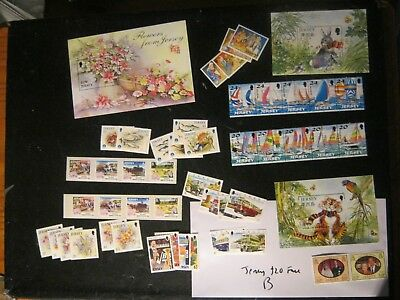 Lot B £100 Unmounted Mintjersey  Face In 5 Phot0S Mainly 1990S 2000S Free Uk Pos