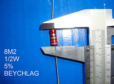 VINTAGE BEYSCHLAG RESISTOR. 1/2W 8M2 5% *1 PC* NEW+ (New Old Stock)
