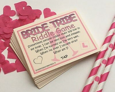 Hen Party Games Bride Tribe Hen Night Dirty Riddle Drinking Games