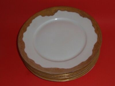 HUTSCHENREUTHER LHS Vintage Hand Painted Gold Rimmed Dinner Plates Set of 6 : gold rimmed dinner plates - pezcame.com