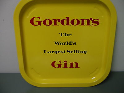 Gordon's The World's Largest Selling Gin  Tin Tray NOS