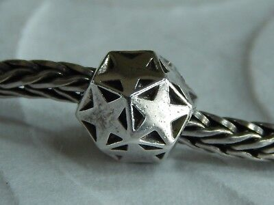 AUTHENTIC TROLLBEADS Sparkling Star Bead TAGBE-20020 Sterling Silver (ONE) NEW!