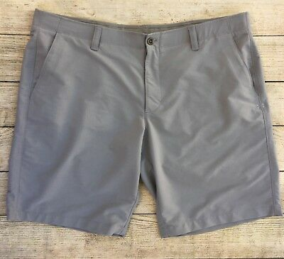 Mens Under Armour Casual Flat Front Shorts Gray Size 42