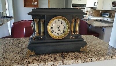 Antique Seth Thomas Mantle Clock Fully Operational MADE in the USA