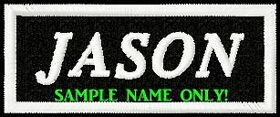 CUSTOM/MADE TO ORDER .... 1 or 2 WORD BIKER PATCH with  BLACK BACK GROUND