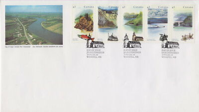 CANADA #1489a 43¢ HERITAGE RIVERS - 3 FIRST DAY COVER