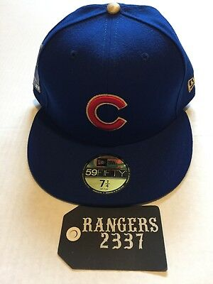 2529fd35ab5 New Era Chicago Cubs 2016 World Series Commemorative 59FIFTY Hat Cap 7 1 4