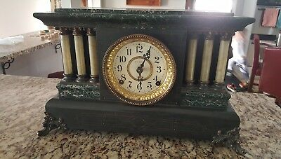 Antique Seth Thomas Mantle Clock MADE in the USA Mantel