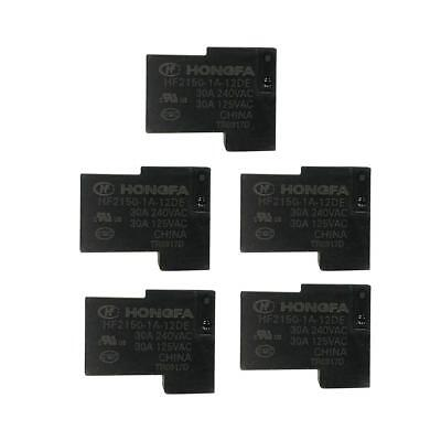 5Pcs HF2150-1A-12DE Micro Relay 12V 30A 4 Pin Automotive Normally Open Relay