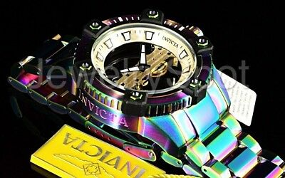 Invicta Octane Arsenal Ghost 48MM Limited Ed Mechanical Iridescent SS Band Watch
