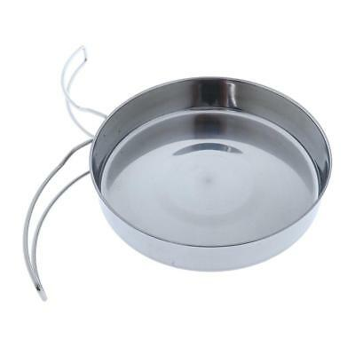 Portable Outdoor Camping Hiking Cooking Pot Frying Pan Stainless Steel 3cm